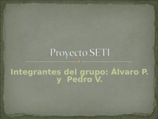 Proyecto SETI.ppt