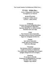 TVXQ - White lies....doc