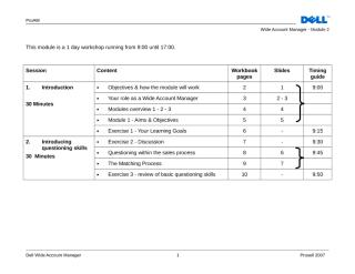 WAM Module 2 Trainer Guide Agenda.doc