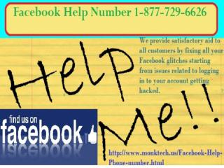 Leave Every Issue for Us @ Facebook Help Number 1-877-729-6626.pptx