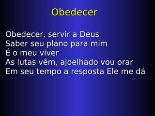 Obedecer.ppt