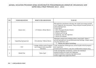 schedule kegiatan program kerja koord. pao.doc