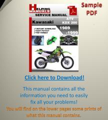 Kawasaki ATV KDX 200 1989-1999 Service Manual.pdf