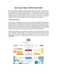 Apa fungsi Chipset Motherboard anda.doc