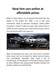 Now hire cars online at affordable prices.pdf